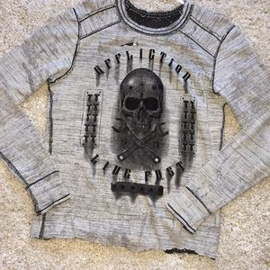 2-in-1 reversible AFFLICTION Long sleeve